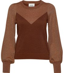 lea knit new o-neck gebreide trui bruin second female