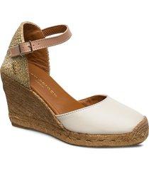 monty sandalette med klack espadrilles beige kurt geiger london
