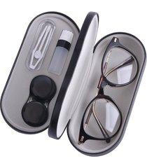 gafas de concha protectora dura caso titular de anteojos y l