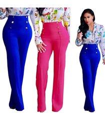 high-waist long pants