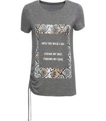 maglia con scritta (grigio) - bodyflirt