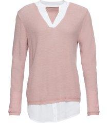 maglione con inserti di camicia (rosa) - bodyflirt