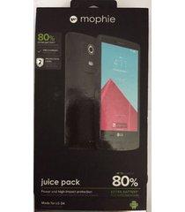 mophie juice pack battery case for lg g4 (3,450mah) - black