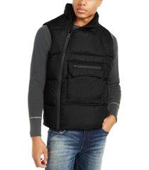 american stitch men's side zip puffer vest