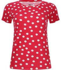 camiseta mujer lunares color rojo, talla s