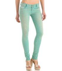 starlet skinny light fruit dr. ermer patch - guess - jeans - groen