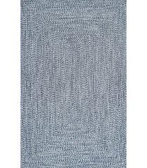 nuloom festival braided lefebvre mist 4' x 6' area rug