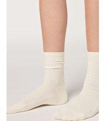 calzedonia short sport socks woman white size tu