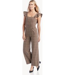 dra women's rumi jumpsuit in color: hunstman plaid size xs from sole society