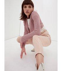 motivi cardigan corto lurex donna rosa