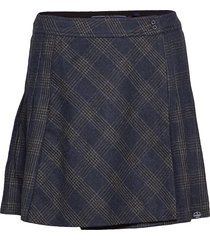 josie pleated tweed skirt kort kjol svart superdry