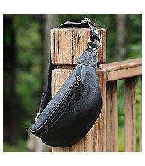 leather waist bag, 'easy travels' (thailand)