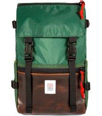 men's topo designs heritage rover water resistant backpack - green