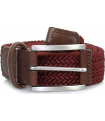 anderson belts woven belt | burgundy| 2949/37d1