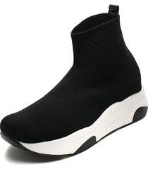zapatos plataforma media capellada tipo media anuwa sock retro