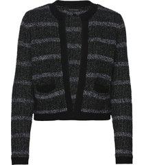 collarless sweater jacket gebreide trui cardigan zwart banana republic