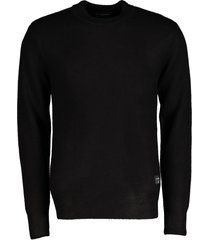 scotch & soda pullover - slim fit - zwart