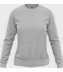 damska bluza taliowana (bez nadruku, gładka) - szara