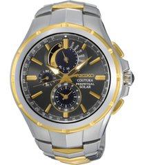 seiko men's solar chronograph coutura two-tone stainless steel bracelet watch 44mm ssc376