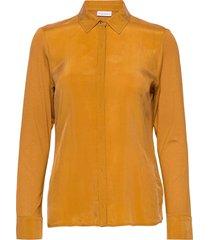 blouse long-sleeve blouse lange mouwen geel gerry weber