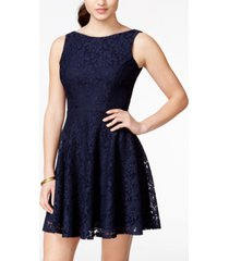 speechless juniors' lace fit & flare tank dress, created for macy's