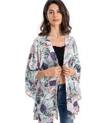 kimono tropical blanco nicopoly
