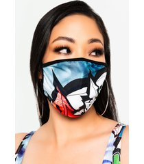 akira spray it romper and fashion face cover mask set