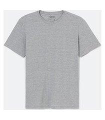 camiseta manga curta em algodão sem estampa | viko | cinza médio | g