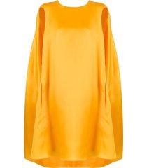 nina ricci oversized cape dress - yellow