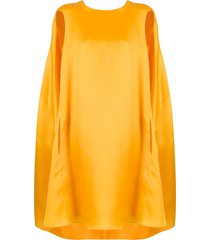 nina ricci oversized cape dress - yellow