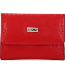billetera mediana a015 lagarto rojo