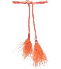 gianluca capannolo tie-fastening interwoven belt - orange
