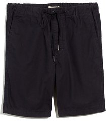 men's madewell garment dyed twill drawstring shorts