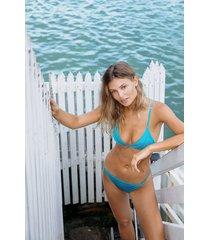 hunkemöller celine bikiniunderdel blå