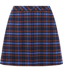 curve check mini skirt