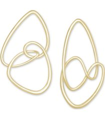 kendra scott 14k gold-plated abstract statement earrings