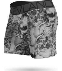 cueca boxer kevland big skulls cinza