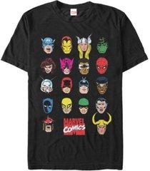 marvel men's comic collection classic head shots short sleeve t-shirt