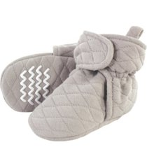 hudson baby boys and girls quilted booties