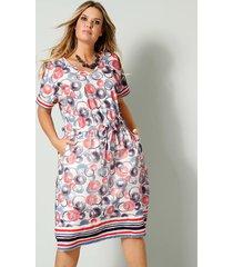 jersey jurk janet & joyce blauw::wit::koraal