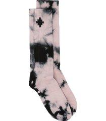 marcelo burlon county of milan cross tie-dye socks - neutrals