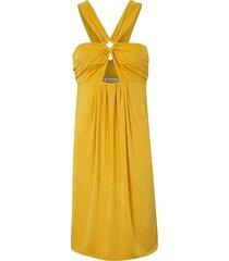 vestido kika simonsen decote triângulo amarelo - tricae
