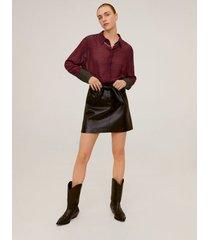 lichte geruite blouse