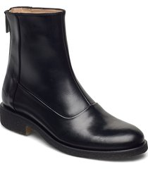booties - flat - with zipper shoes boots ankle boots ankle boot - flat svart angulus
