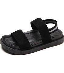 sandalias transpirables para mujer sandalias con botones de plataforma