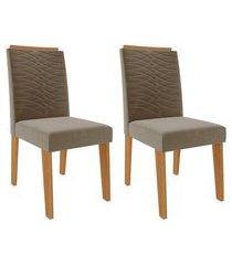 conjunto com 2 cadeiras clarice joli e nature
