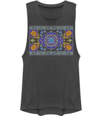 disney juniors' aladdin magic carpet panel print festival muscle tank top