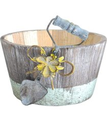 vaso kasa ideia tina vintage 10x18cm - tricae