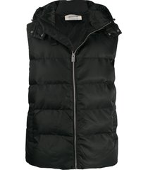 1017 alyx 9sm hooded quilted gilet - black