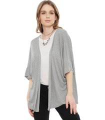 sweater hering gris - calce holgado